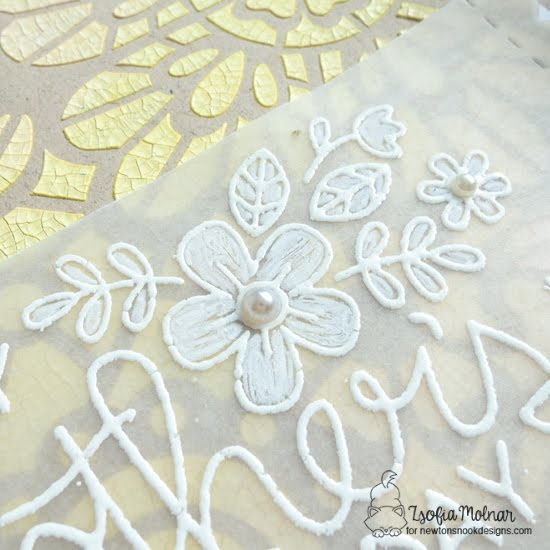 Stenciled Mother's Day Cards by Zsofia Molnar | Floral Lace Stencil, Mother's Day Stamp Set, and Frames & Flags Die Set by Newton's Nook Designs #newtonsnook #handmade