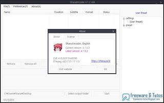 ShanaEncoder : un logiciel basé sur FFmpeg