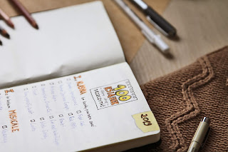 bullet journal art journal book tracker książki do przeczytania