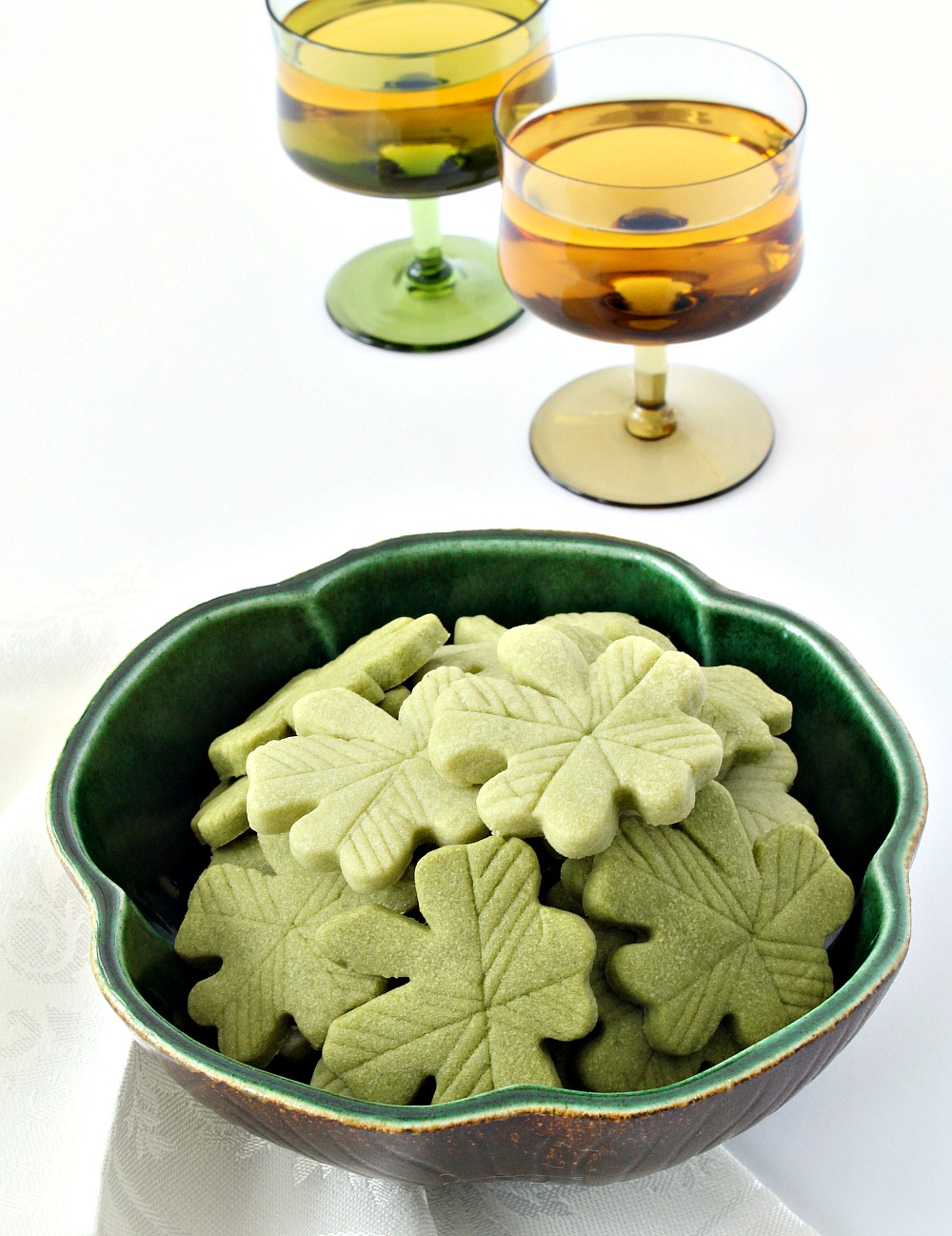 Green Four Leaf Clover Cookies