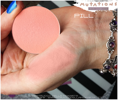 review  PILL blush ombretto - SWATCHES - Collezione Mutations -Neve cosmetics