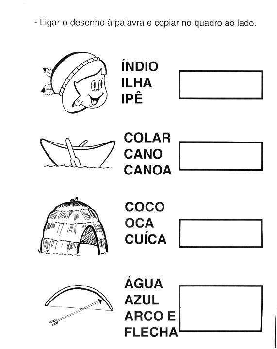 Dia Do Indio 80 Atividades Desenhos Mascaras Colorir Pintar