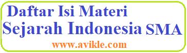 Daftar Isi Materi Sejarah Indonesia SMA