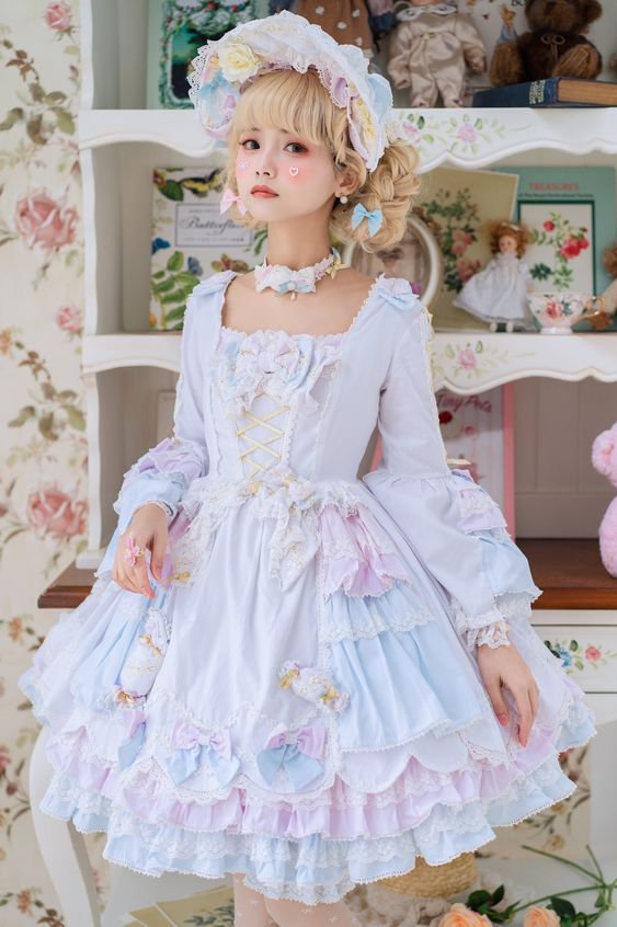 Girl in sweet lolita clothes