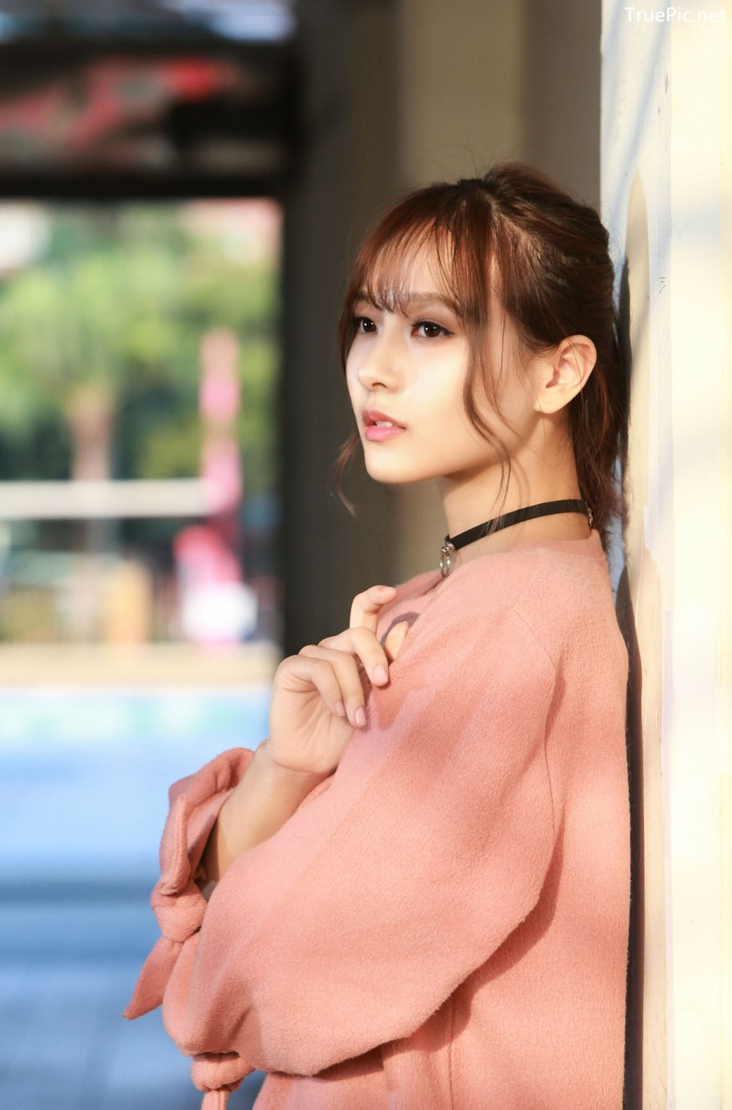 Image-Taiwanese-Model-郭思敏-Pure-And-Gorgeous-Girl-In-Pink-Sweater-Dress-TruePic.net- Picture-3