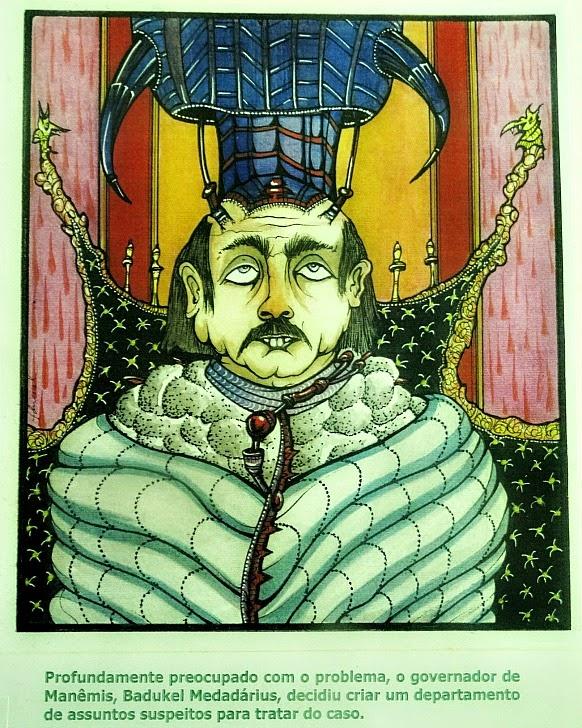 """Badukel Medadárius, o Governador de Manêmis - """"O Rilimanto nas Tubulações de Manêmis"""", por Fernando Duval"""