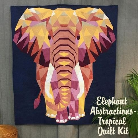 """""""Elephant Abstractions"""" quilt pattern by Violet Craft"""