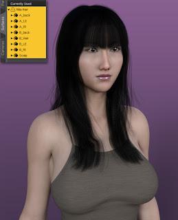 Nita Hair with Bangs