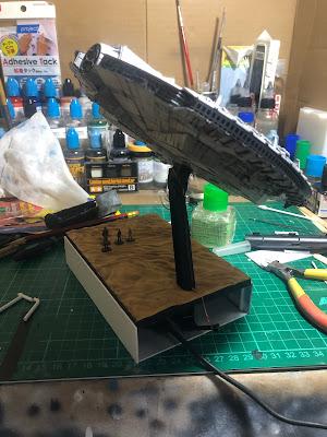 Bandai Millennium Falcon Custom Plastic Plate Base