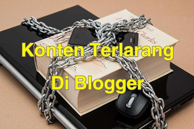 Konten Terlarang di Blogger