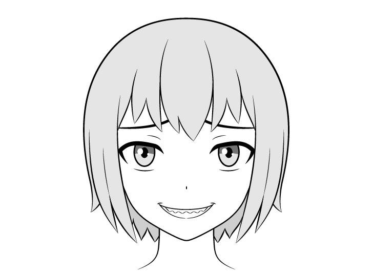 Gambar gigi tajam anime