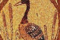 cara membuat mozaik dari biji-bijian
