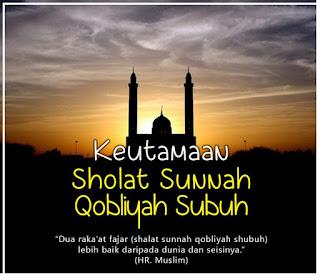 Keutamaan Shalat Sunnah Qobliyah Shubuh - pustakapengetahuan.com