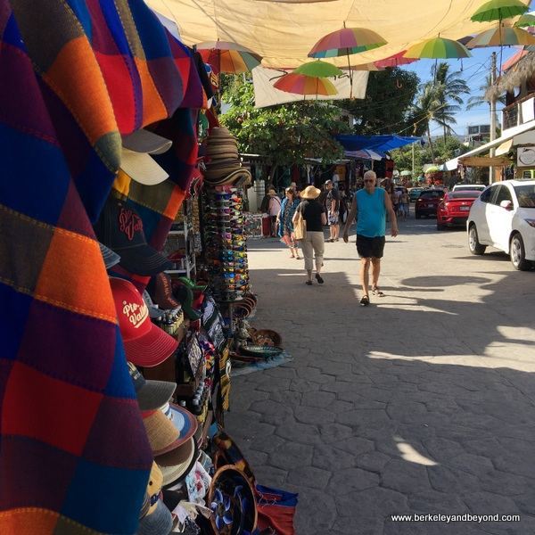 crafts market on street in Bucerias, Mexico