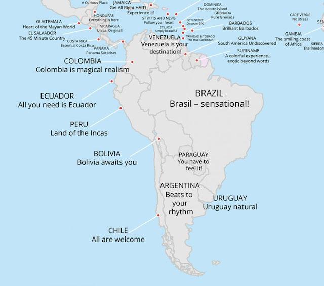 Conoce el primer atlas que recoge todos los eslóganes de las marcas de cada país