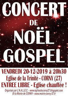 concert de Noël Corny eure 20 decembre 2019 20h30 gratuit