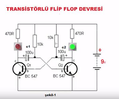 flip flop devre şeması