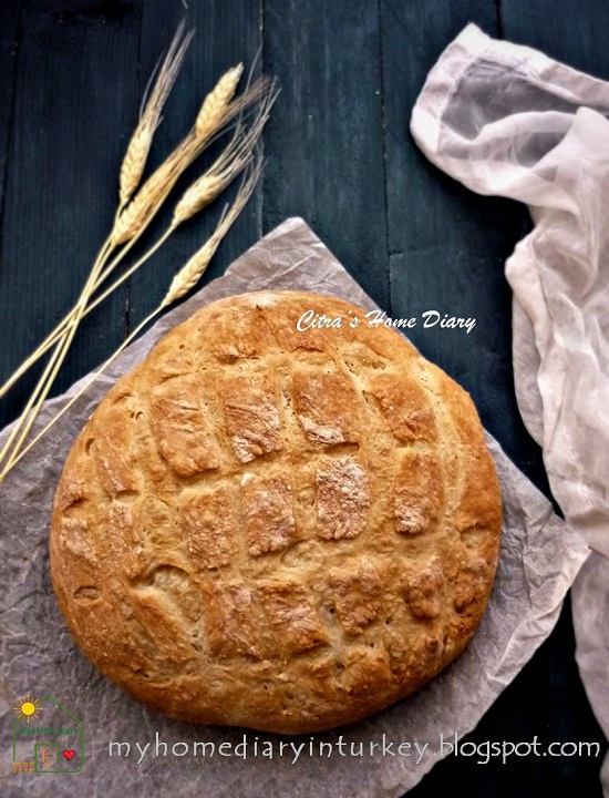 EASY  AND TASTY NO KNEAD ARTISAN BREAD | Çitra's Home Diary