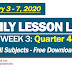 WEEK 3 (February 3 - 7, 2020) Daily Lesson Logs: 4TH QUARTER