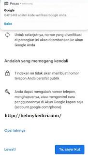 akun google kembali kepemilik
