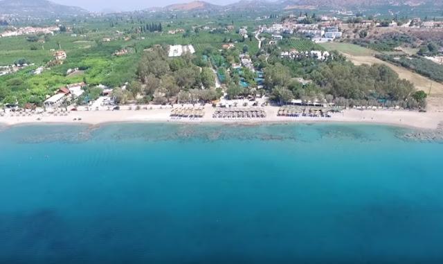 Πλάκα Δρεπάνου: Η εξωτική παραλία της Αργολίδας (βίντεο drone)