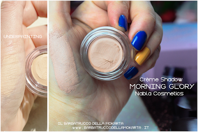 morning glory underpainting swatches POTION PARADISE OMBRETTI CREMA NABLA CREME SHADOW