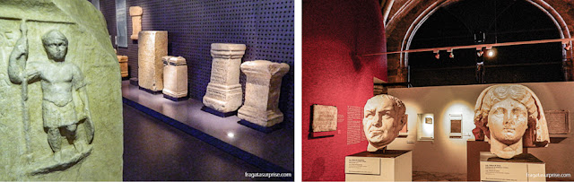Peças romanas expostas no Museu de Arqueologia de Lisboa