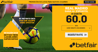 betfair supercuota Real Madrid gana Espanyol 27 enero 2019