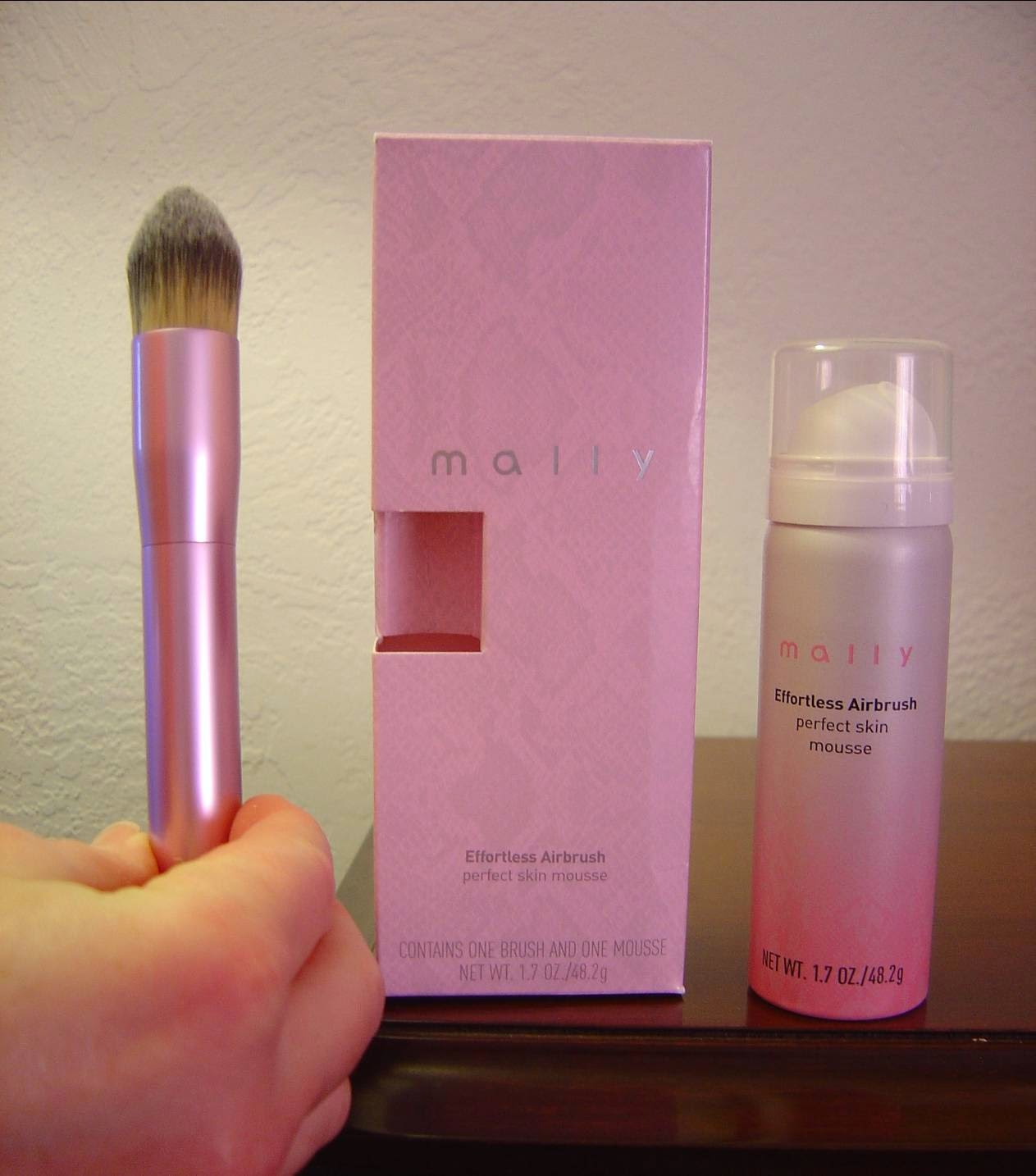 Mally Beauty's Effortless Airbrush Perfect Skin Mousse (Light) and Brush.jpeg