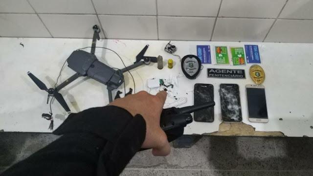 Drone que sobrevoava IPPOO II é derrubado por agentes penitenciários no Ceará