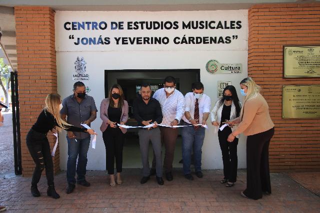 Equipan y rehabilitan el Centro de Estudios Musicales del Gobierno de Saltillo