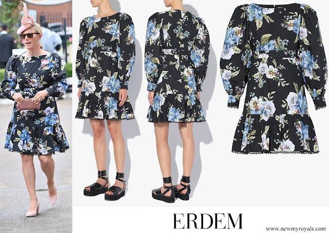 Zara Tindall wore Erdem Rydal Carnation Bouquet-print cotton dress