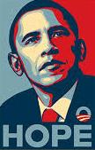 Un cartel de Barack Obama