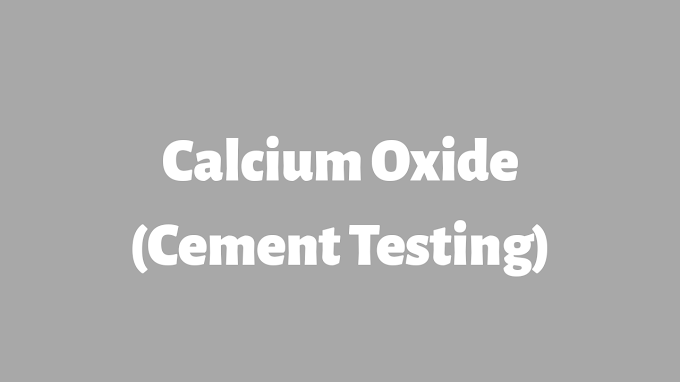 Calcium oxide in Cement