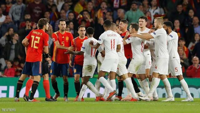 إنجلترا تكسر إسبانيا بثلاثية رائعة