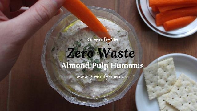 almond pulp hummus