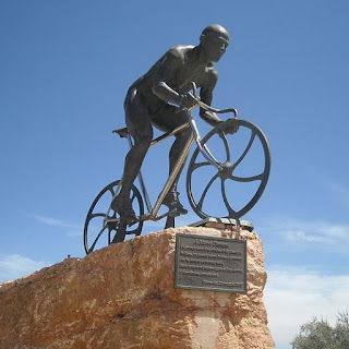 The Pantani monument in his home town of Cesenatico