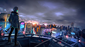 Cyberpunk, Cityscape, Scenery, Sci-Fi, City, Buildings, 4K, #6.2540