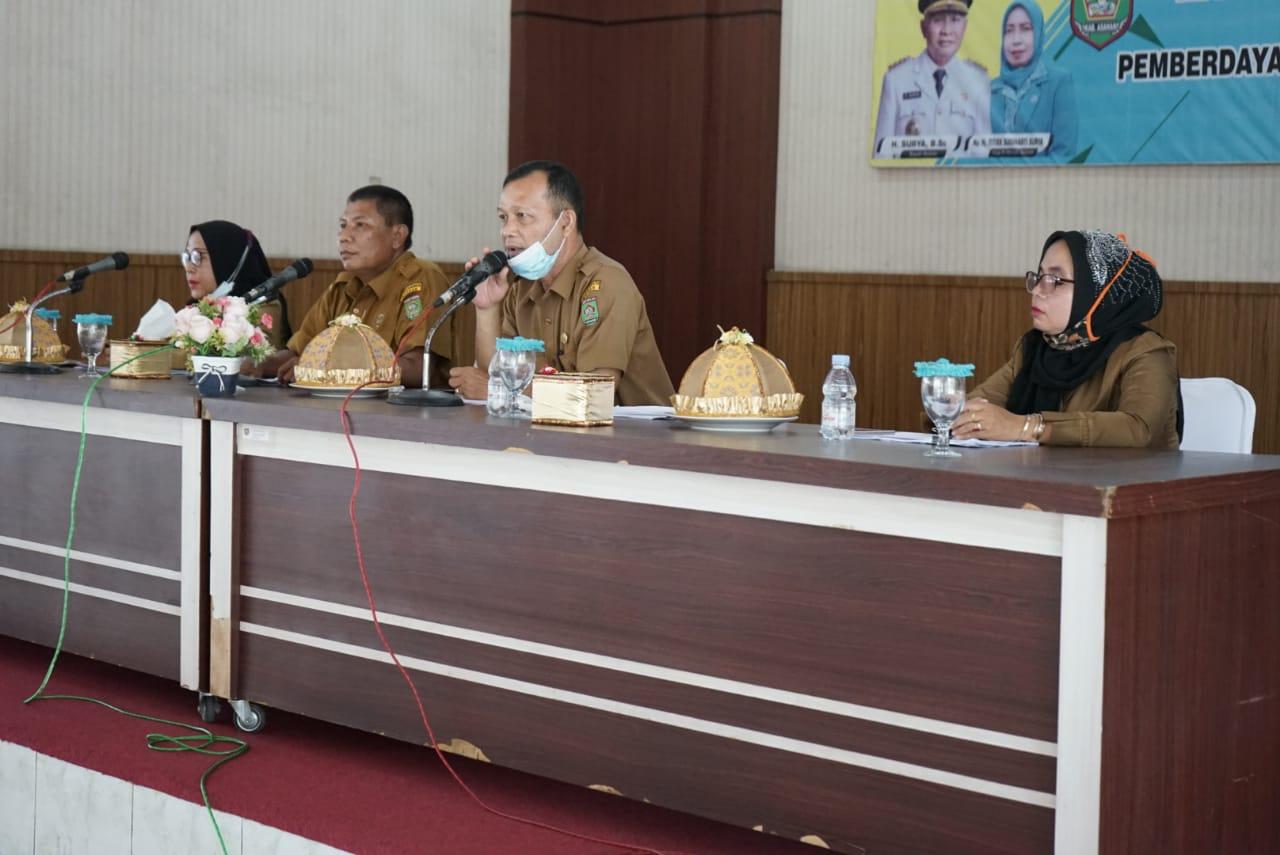 Rapat Koordinasi Teknis TP PKK Kabupaten Asahan, Ini Pesan Bupati Asahan