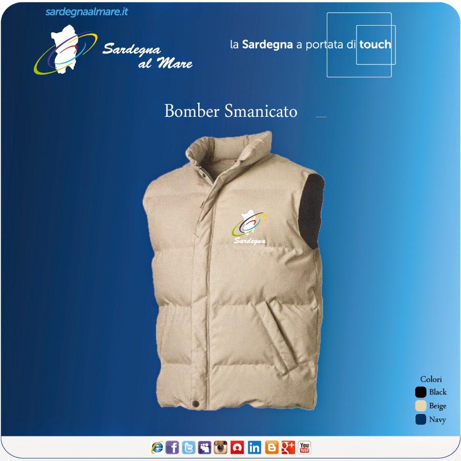 """Giubbotto invernale """"Bomber"""" con logo """"Sardegna al Mare"""" Classico"""