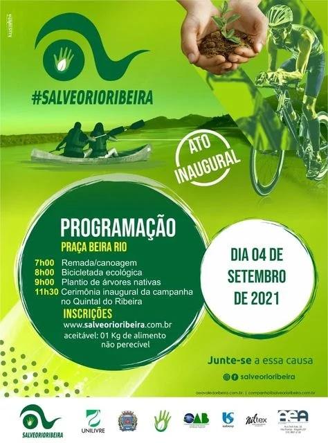 Lançamento oficinal da Campanha Salveo Rio Ribeira neste 04/09