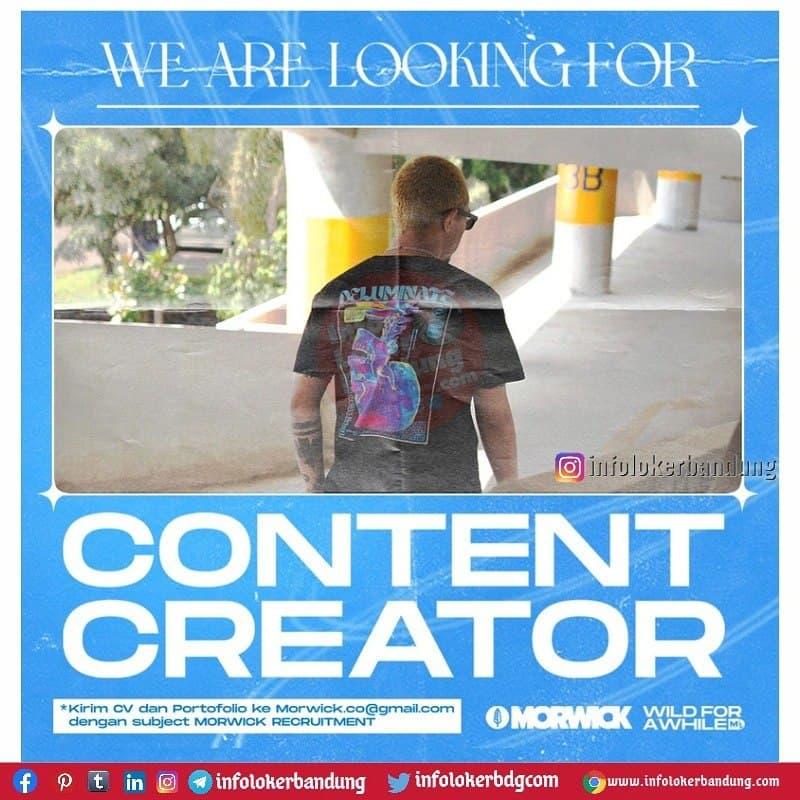 Lowongan Kerja Content Creator Morwick Bandung Juli 2021