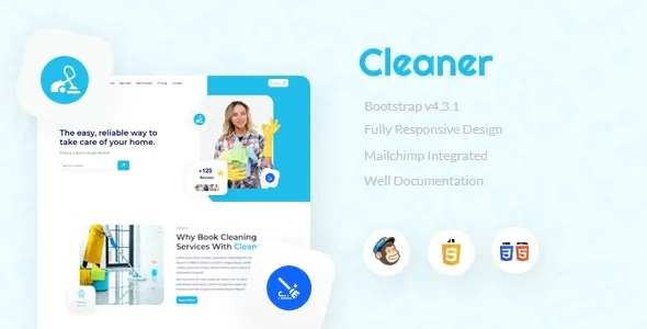Best Cleaner Responsive Landing Page Template