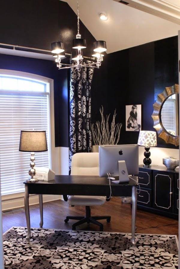 Oficina color negro y blanco