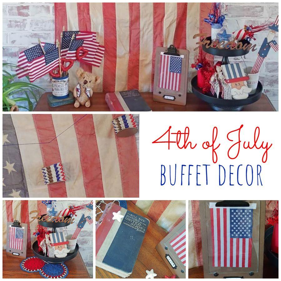 4th of July Buffet Decor