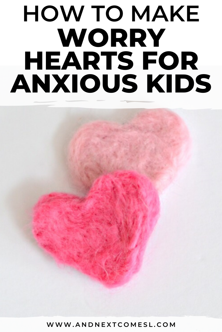 How to make felt worry hearts - an alternative to worry stones and worry dolls for anxious kids