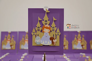 sofia the first, handmade invitations, princess invitations