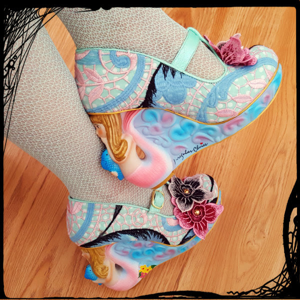 wearing irregular choice ss17 mermaid character heels