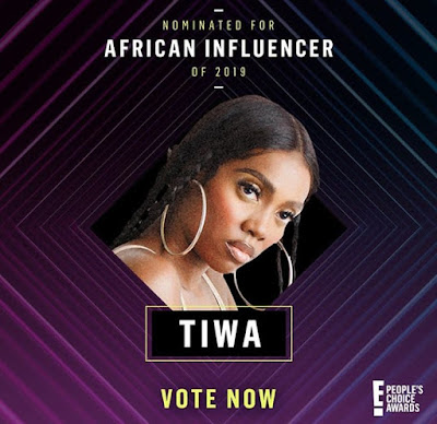 Tiwa savage, Tiwa savage Balogun, Nigerian artiste, people's choice awards