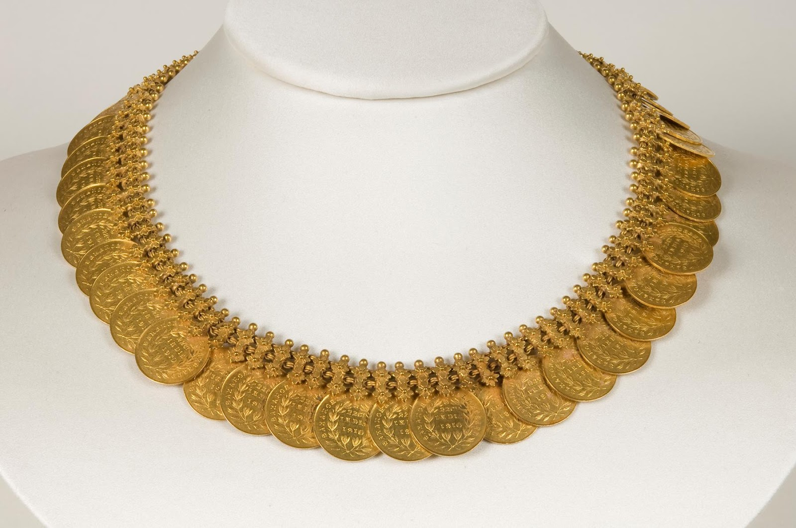Pai jewellers gold necklace designs latest indian jewellery designs - Latest Designs Of Kasumala Or Kasulaperu